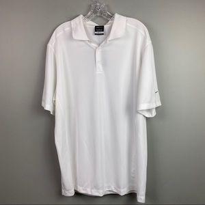 NWT Nike Dri-Fit Golf Polo Shirt White XL